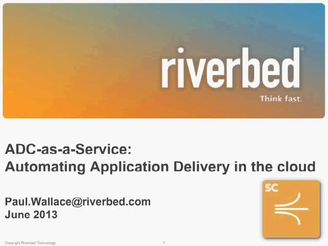 ADC-as-a-Service: Automating Application Delivery in the cloud
