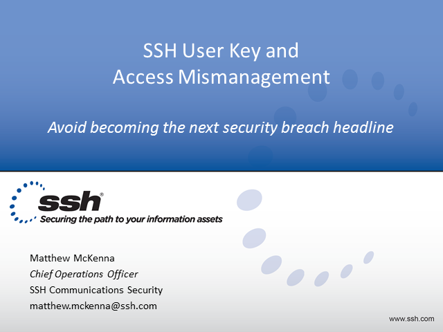 SSH Key Mismanagement? Don't be the Next Security Breach Headline