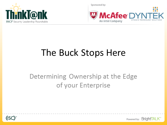 The Buck Stops Here – Determining Ownership at the Edges of Your Enterprise
