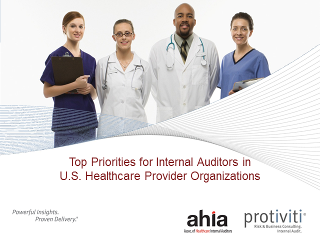 2013 Top Priorities for Internal Audit in Healthcare Organizations
