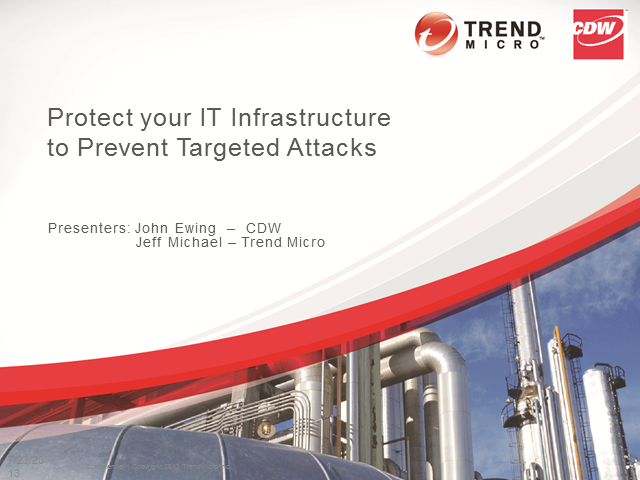 Protect your IT Infrastructure to Prevent Targeted Attacks