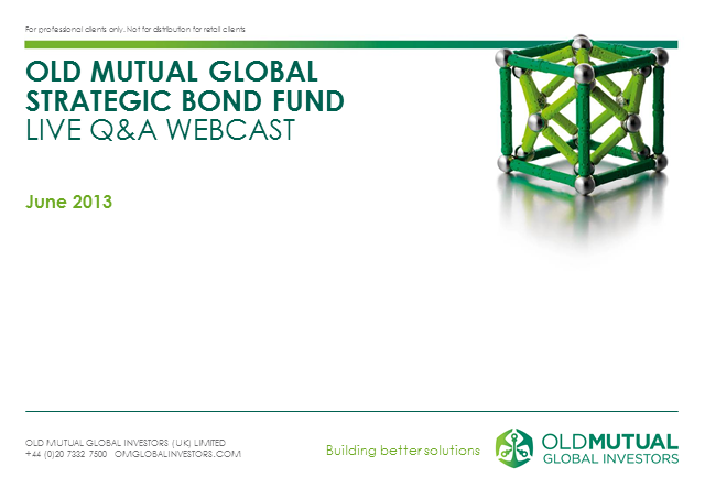 Old Mutual Global Strategic Bond Fund LIVE Q&A