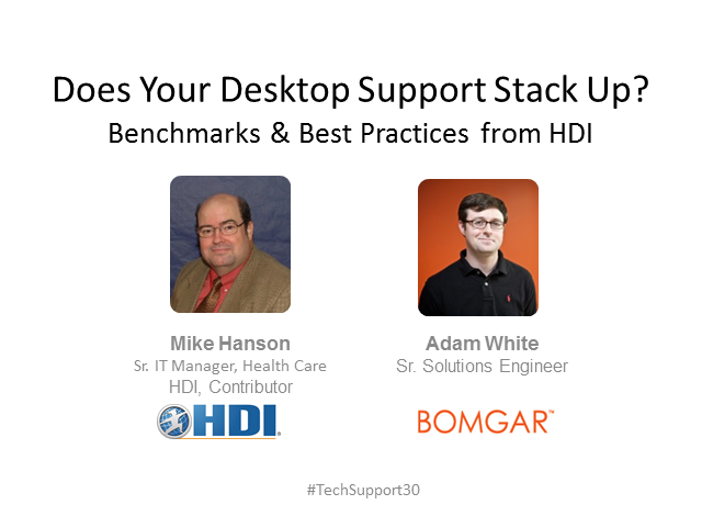 Does Your Desktop Support Stack Up? Benchmarks & Best Practices from HDI