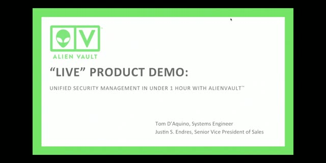 Product Demo: Get Security Visibility in Under 1 Hour with AlienVault