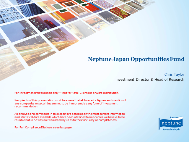 Neptune Japan Opportunities Fund Update