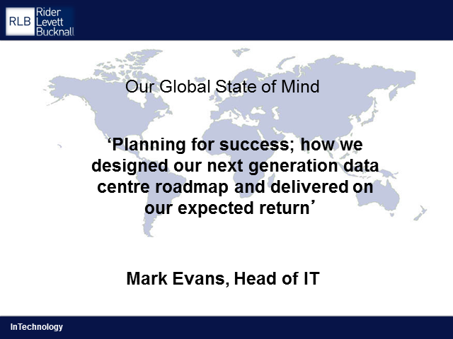 Planning for success - The move to a next-generation Data Centre