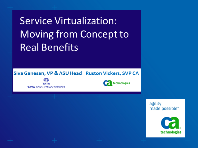 Service Virtualization: Moving from concept to real benefits