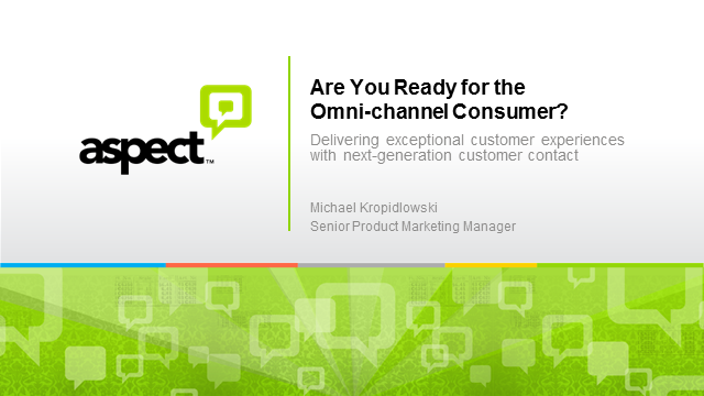 You Ready for the Omni-channel Consumer?