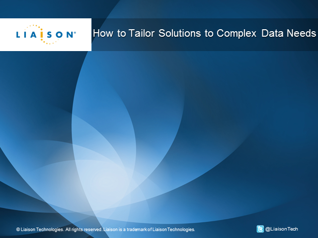 How to Tailor Solutions to Your Complex Data Issues