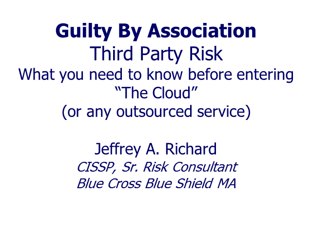 Guilty by Association: Four Reasons to Perform 3rd Party Risk Screening