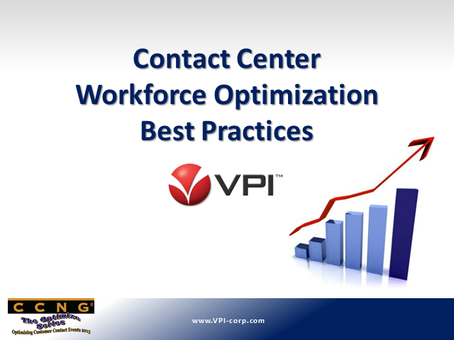Contact Center Workforce Optimization Best Practices