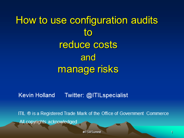 How to Use Configuration Audits to Reduce Costs and Manage Risks