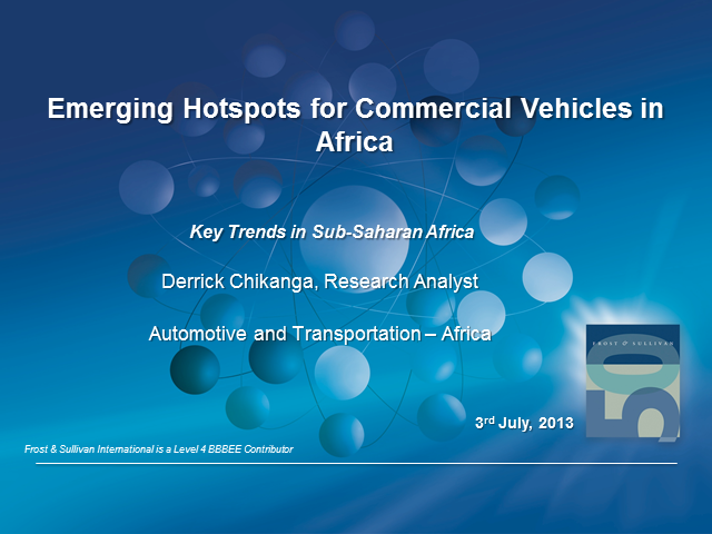 Emerging Hotspots for Commercial Vehicles in Africa