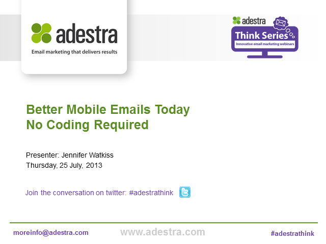 Better mobile emails today. No coding required.