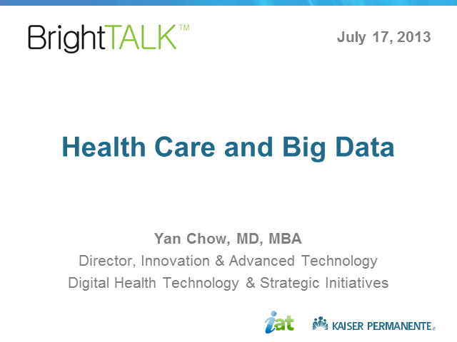 Health Care and Big Data