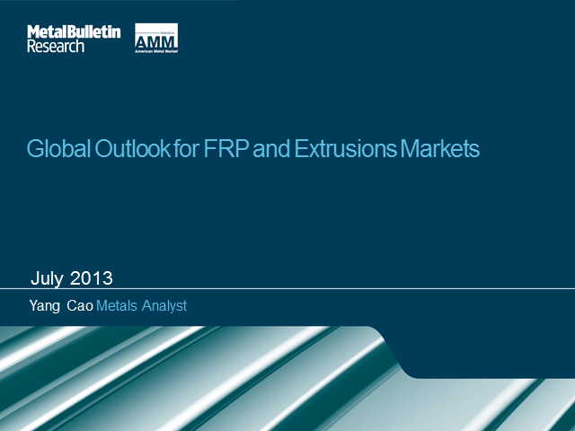 Global Outlook for FRP and Extrusion Markets