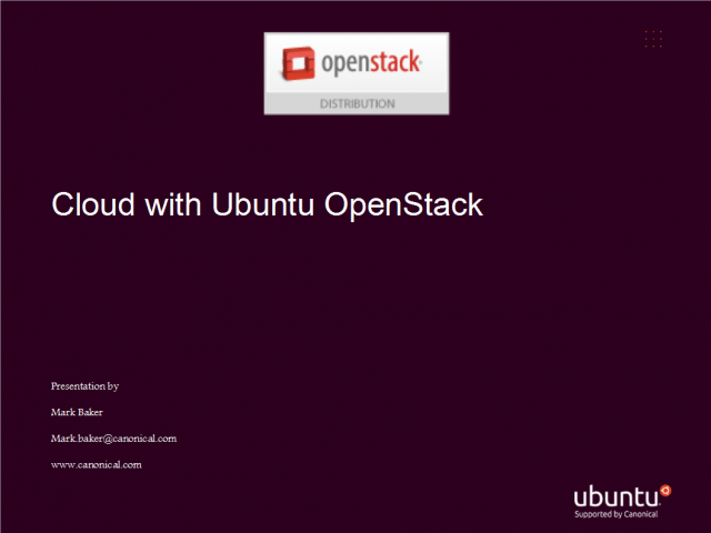 Cloud on Ubuntu & OpenStack