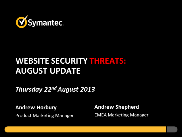 Website Security Threats: August Update
