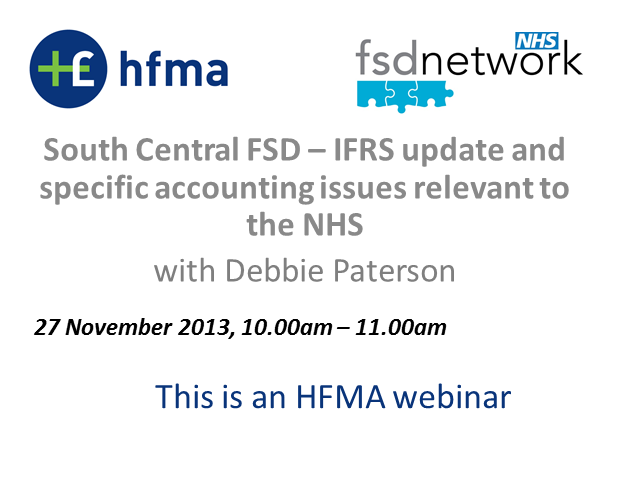 South Central FSD: IFRS update & specific accounting issues relevant to the NHS