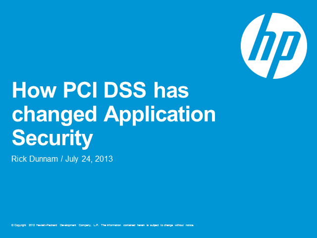 How PCI has changed application security