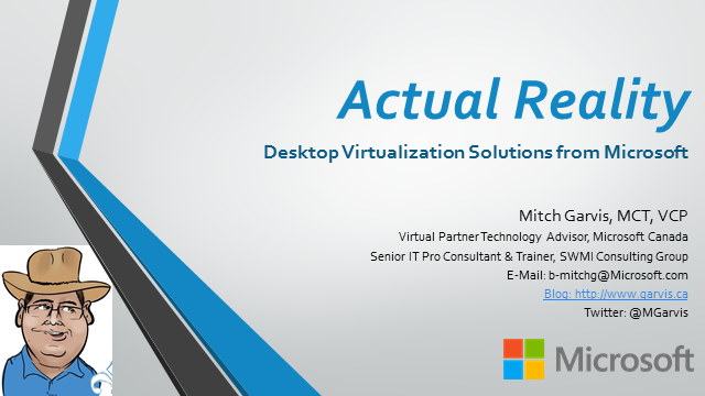 Actual Reality: Desktop Virtualization Solutions from Microsoft