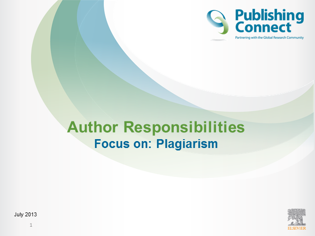 Publishing Ethics - Plagiarism