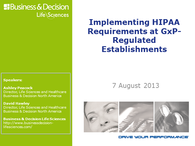 HIPAA Compliance at GxP Facilities