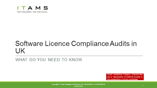 Software Licensing Compliance Audits – How to Protect Your Organisation