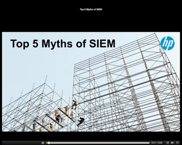 Top 5 myths of SIEM