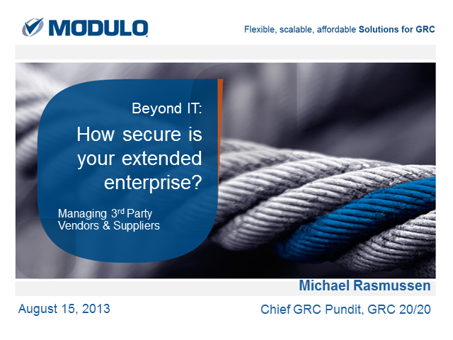 Beyond IT: How Secure is Your Extended Enterprise?