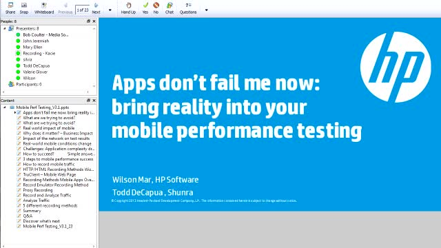 Mobile series: Apps, don't fail me now: bring reality into your mobile testing