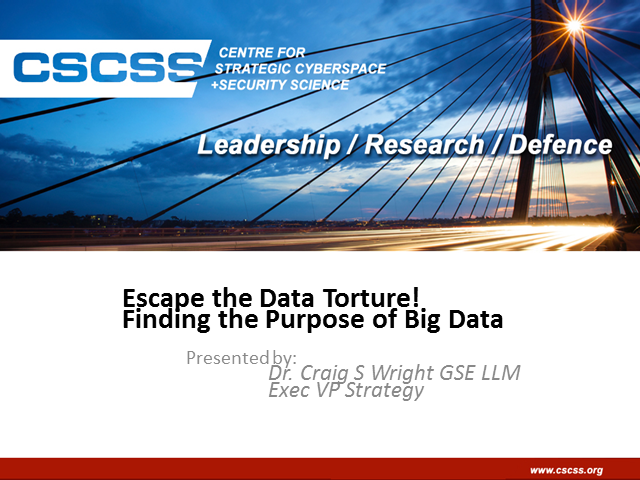 Escape the Data Torture! Finding the Purpose of Big Data