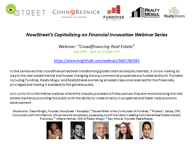 Crowdfinancing Real Estate