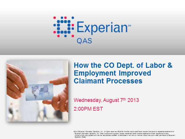 How the CO. Dept. of Labor and Employment Improved Claimant Processes