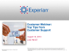 Experian Data Quality Customer Webinar: Best practices and advice