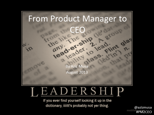 From Product Manager to CEO