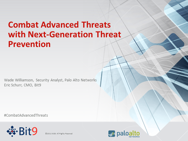 Combat Advanced Threats with Next-Generation Threat Prevention