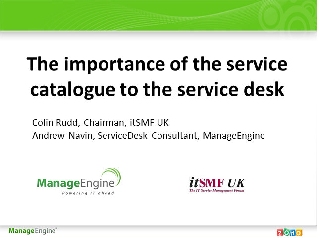 The Importance of Service Catalogue for the Service Desk