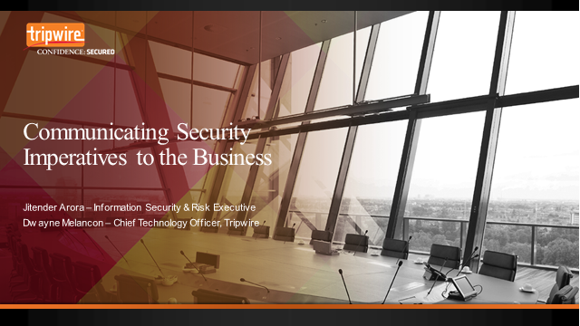 How to Communicate Security Imperatives to the Business