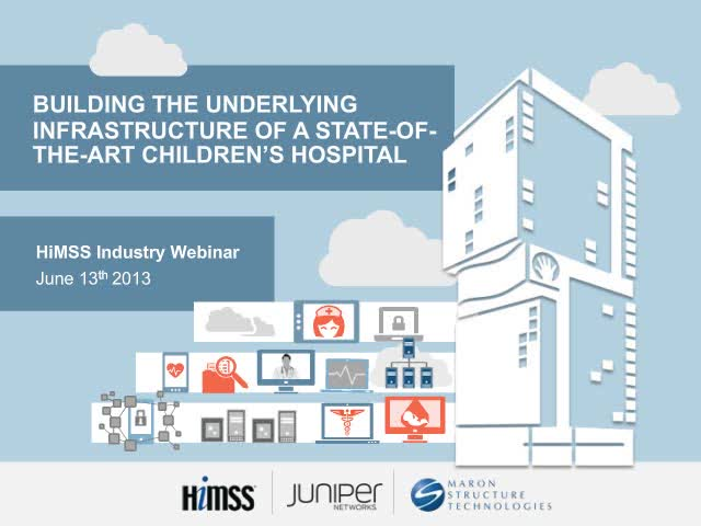 Building the Underlying Infrastructure of a State-of-the-Art Children's Hospital
