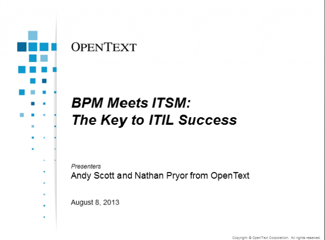 BPM Meets ITSM: The Key to ITIL Success