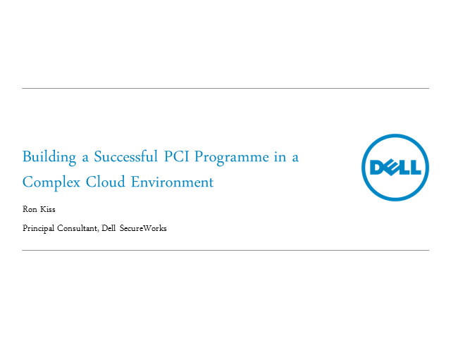 Building a Successful PCI Programme in a Complex Cloud Environment