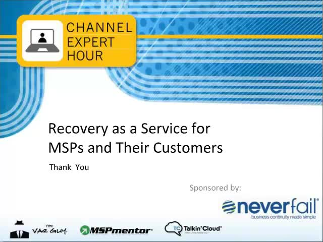 Recovery as a Service for MSPs and their Customers
