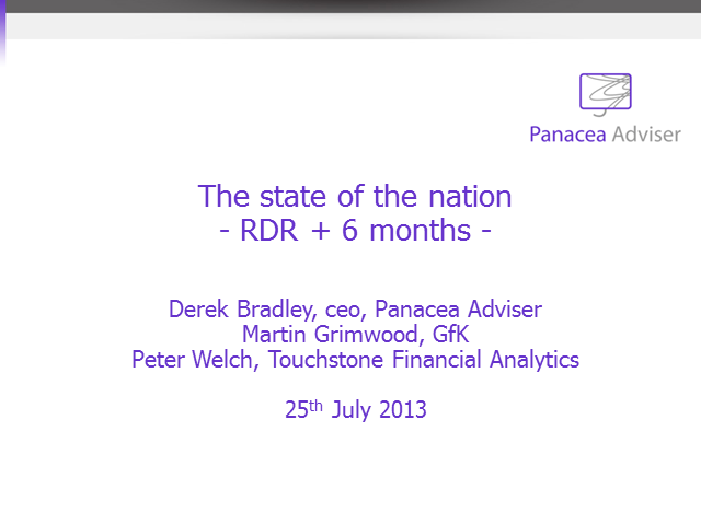 The state of the nation – RDR + 6 months