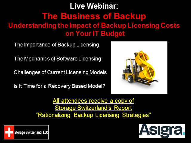 The Business of Backup - The Impact of Backup Licensing on IT Budgets
