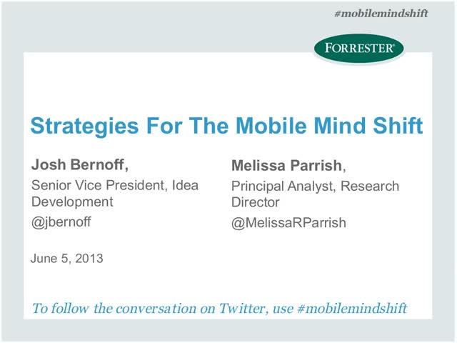 Strategies For The Mobile Mind Shift