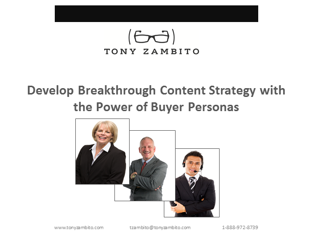 Develop a Winning Content Strategy With The Power of Buyer Personas