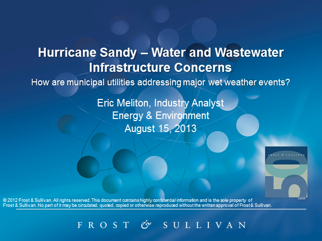 Water and Wastewater Infrastructure Concerns for Future Major Weather Events