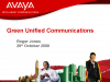 Green Unified Communications