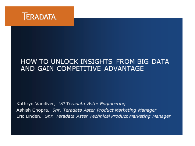 How to Unlock Insights from Big Data and Gain Competitive Advantage